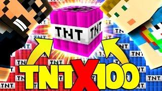 Download Minecraft: 100X TNT WARS - MODDED TNT!! [3] Video