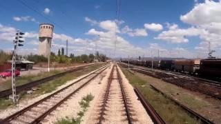 Download Train cab ride Bulgaria: Sofia - Varna Video