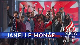 Download Janelle Monáe Performs 'Americans' Video