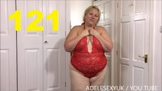 Download ADELESEXYUK SHOW OFF HER RED LINGERIE IN HER BEDROOM Video