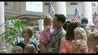Download Singing Flash Mob Overwhelms Soldier Video