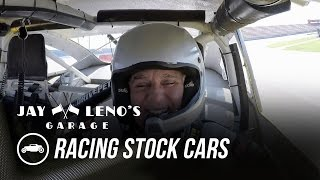 Download Jay Leno and NASCAR driver Joey Logano Race Stock Cars - Jay Leno's Garage Video