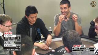 Download The Money Piles in on a 3 Way Action Flop!!! ♠ Live at the Bike! Video