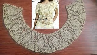 Download blusa con olan a crochet( trabajando el olan) parte 1 Video