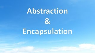 Download Abstraction & Encapsulation Video