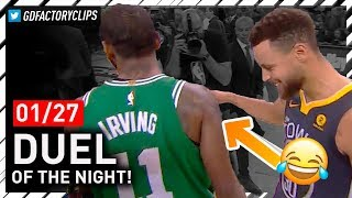 Download Stephen Curry vs Kyrie Irving EPIC PG Duel Highlights (2018.01.27) - Steph Got Left Hanging! Video
