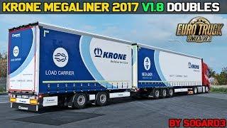 Download ✅ [ETS2 1.32] Krone MegaLiner 2017 v1.8/Doubles by Sogard3 Video