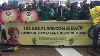 Download Dlamini-Zuma arrives to warm welcome at OR Tambo Video