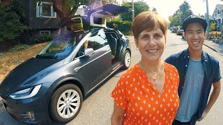 Download My MOM in the new TESLA Video