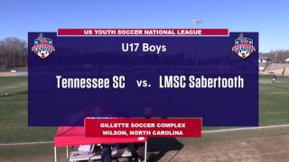 Download 2016 National League - Boys - U17 - Tennessee's SC vs LMSC Sabertooth Rats - Field 3 - Day 3 - 10am Video