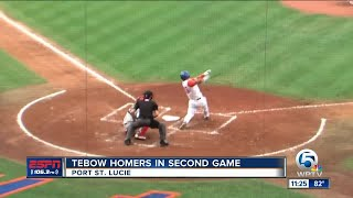 Download Tim Tebow smacks home run in 2nd game for St. Lucie Mets Video