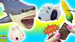 Download Cutting Open Squishy Shark Toys! Snoopy Squishy! Cracking Chocolate Ocean Goo Slime Doctor Squish Video