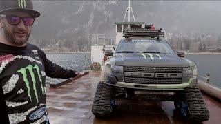 Download Monster Energy: KEN BLOCK SHOWCASES HIS FORD F-150 RAPTORTRAX Video
