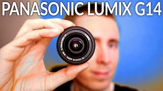 Download Review Panasonic Lumix G 14mm lens MFT for video and photography Video