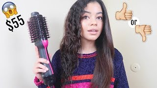 Download TESTING REVLON ONE STEP HAIR DRYER AND STYLER ON CURLY HAIR - HONEST REVIEW Video