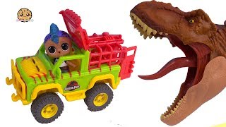 Download Punk Boi Feeds Jurassic World T Rex Dinosaurs From Car ! Toy Video Video
