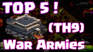 Download Clash Of Clans Best Townhall 9 Attack Strategies   Top 5 Clash Of Clans Clan Wars Armies Video