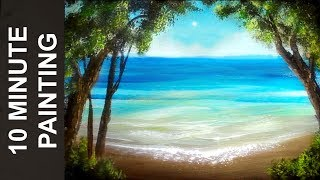 Download Painting a Summer Beach Landscape with Acrylics in 10 Minutes! Video