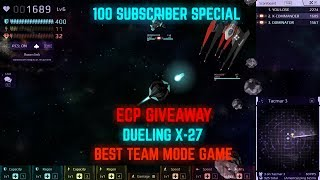 Download 100 Subscriber Special! ECP Giveaway, Epic Team Mode Game, Dueling X-27 - Starblast.io Video