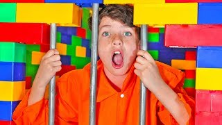 Download I Trapped My Little Brother in LEGO Prison for 24 Hours! Video
