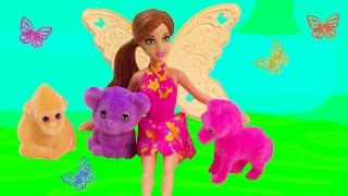Download Mini Fairy Barbie Doll Puppy In My Pocket Friends Neon Baby Animals Playset Review Unboxing Video