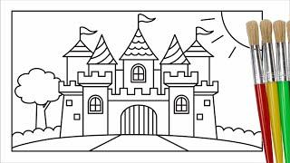 Download Cara menggambar dan mewarnai istana untuk anak Video