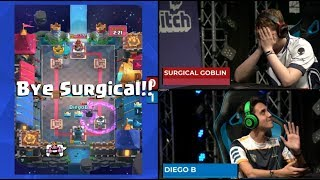 Download SURGICAL GOBLIN VS DIEGO | Clash Royale Super Magical Open Play 2018 Video