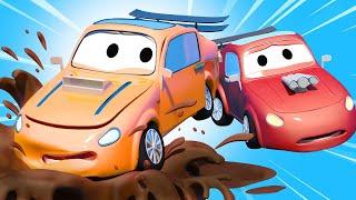 Pembe Spor Araba Nasıl çizilir çocuklar Için Eğlenceli Boyama