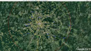Download Tzar Bomba effects on different cities from Google Earth Video