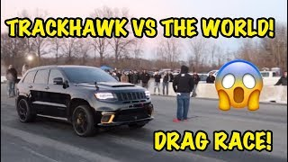Download 1000HP TRACKHAWK VS TESLA MODEL X P100D AND MUCH MORE! *INSANE* Video