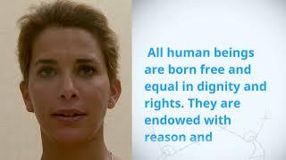 Download UDHR Video Article 1 English HRH Princess Haya Bint Al Hussein Jordan Video