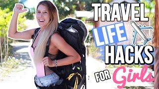 Download TRAVEL LIFE HACKS FOR GIRLS [BACKPACKING] Video
