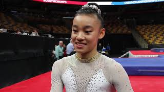Download Interview: Leanne Wong - Day 2, 2018 US Championships Video
