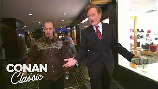 Download Conan Spends $400 At Rockefeller Center - ″Late Night With Conan O'Brien″ Video