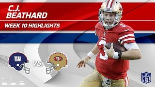 Download C.J. Beathard Gets 303 Total Yards & 3 TDs to Help Defeat NY!   Giants vs. 49ers   Wk 10 Player HLs Video