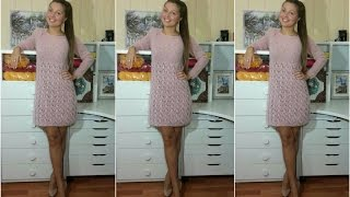 Download Финал! Вязаное платье ″Лиловая пудра″ из Alize Kid Mohair 💟🍨🌹🍦💐 (описание⤵) Video