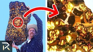 Download Man Cuts Open A RARE Meteorite He Discovered. What Was Found Inside Is Truly Mind-Blowing! Video