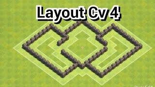 download clash of clans layout para cv 4 push anti farm guerra best layout 4 - Layout Cv 4 Guerra