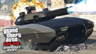 Download GTA 5 DOOMSDAY HEIST!! *FUTURISTIC TANK w/ RAILGUN CANNON!* (GTA 5 Online Heists) Video