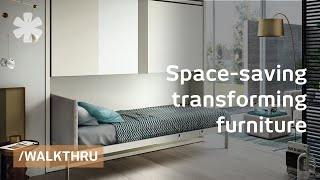 Download Space saving furniture that transforms 1 room into 2 or 3 Video