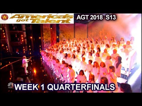 "Angel City Chorale sings ""This Is Me"" AMAZING Quarterfinals 1 America's Got Talent 2018 AGT"