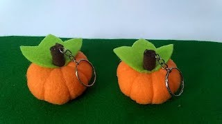 Download Tutorial Gantungan Kunci Labu Dari Kain Flanel | How to Make a felt pumpkin Video