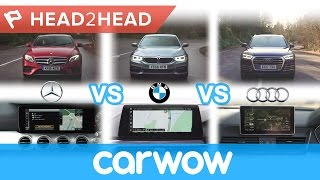 Download Mercedes COMAND vs BMW iDrive vs Audi MMI - in-car tech group test | Head2Head Video