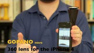 Download GoPano micro - A 360 lens for making panoramic video with the iPhone4 Video