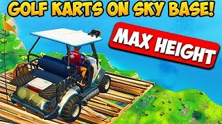 Download *MAX HEIGHT* GOLF KART SKY BASE! - Fortnite Funny Fails and WTF Moments! #259 (Daily Moments) Video