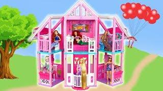 Download New Barbie Malibu House unboxing Assembly Rumah boneka Barbie baru Nova Casa de boneca Barbie Video