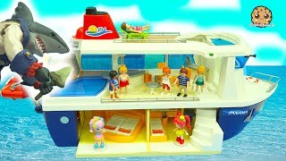 Download Shark Attack On Strange Cruise Ship Trip - Shopkins Happy Places Shoppies Rainbow Kate Vacation Video