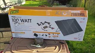 Download Harbor Freight 100W Solar Kit. Full Review - Day 1 Video