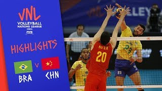 Download BRAZIL vs. CHINA - Highlights Men | Week 3 | Volleyball Nations League 2019 Video