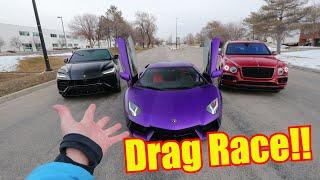 Download Lamborghini Urus races Lamborghini Aventador!! Video